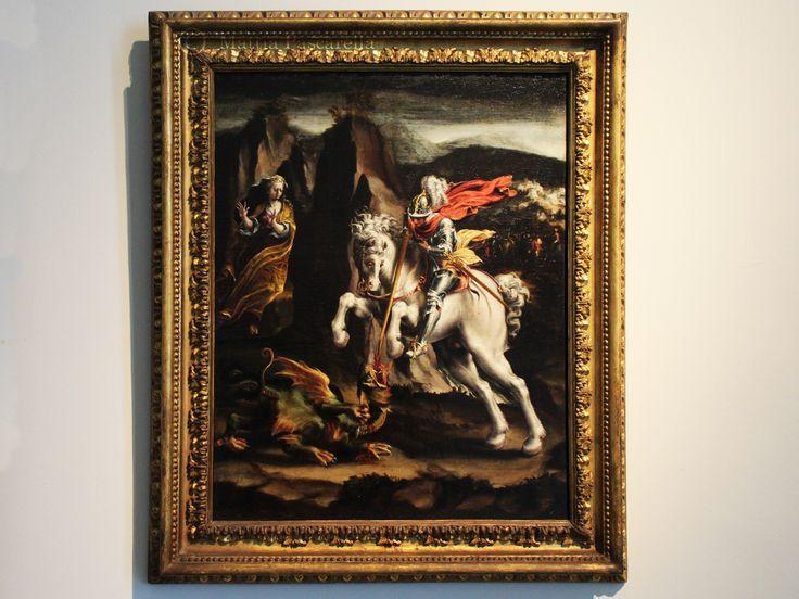 Olio su tela , di Lelio Orsi, 1550-1570. In quanto simbolo del paganesimo e del male, ildragoè un personaggio frequente nelle storie dei santi medievali.L'iconografia tradizionale di Giorgio è l…