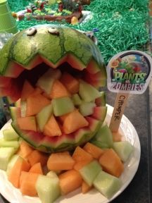 "Watermelon ""chomper"" for Plants vs. Zombies birthday"