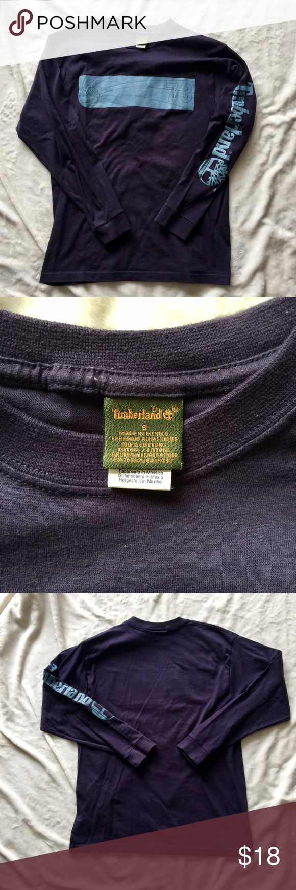 Timberland Men Long Sleeves T shirt Pre-owned Timberland Men Long Sleeves T shirt in size Small slightly worn , still in very good condition Timberland Shirts Tees - Long Sleeve
