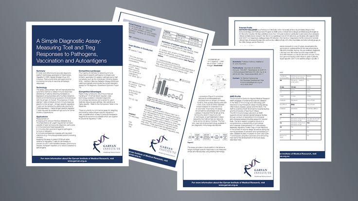 Brochure design for Garvan Institute Australia