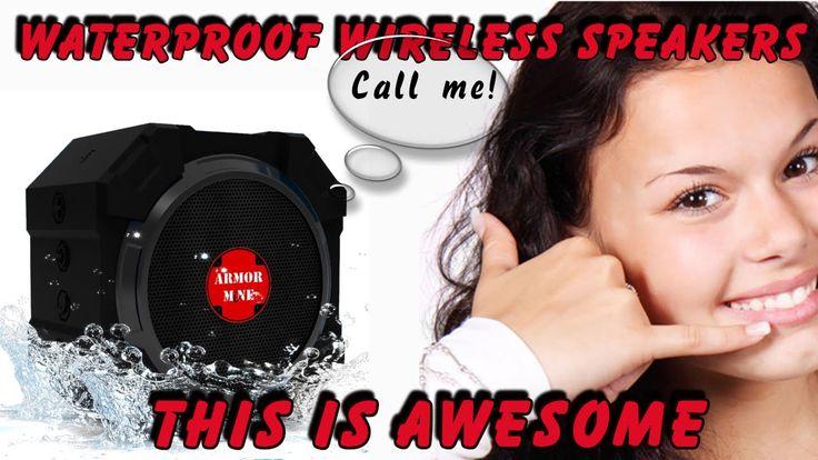 These Waterproof Wireless Speakers Rock http://youtu.be/QKMldqbucmE