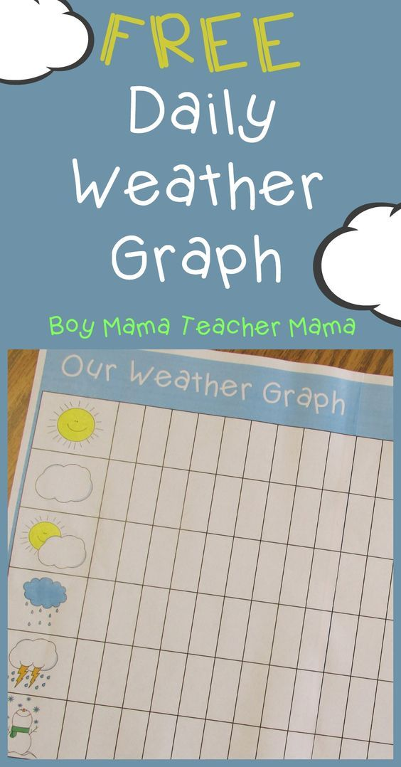 Teacher Mama: FREE Printable Daily Weather Graph