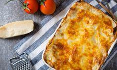 Lasagne med kycklingfärs, zucchini och dragon.