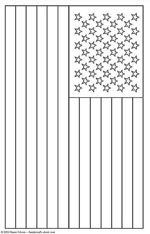 American Flag Coloring Book Page. Works great as a placemat!