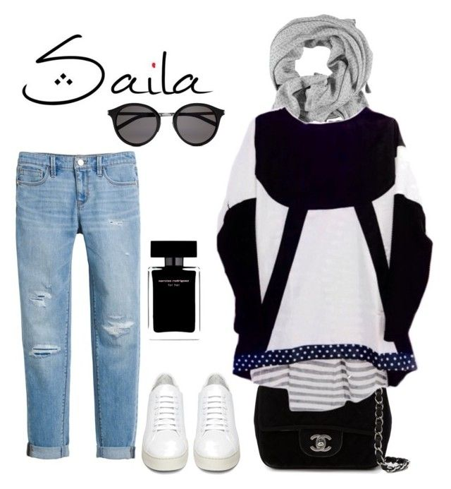 Saila by lemizzle on Polyvore featuring polyvore, fashion, style, White House Black Market, Off-White, Chanel, Yves Saint Laurent, Narciso Rodriguez and clothing