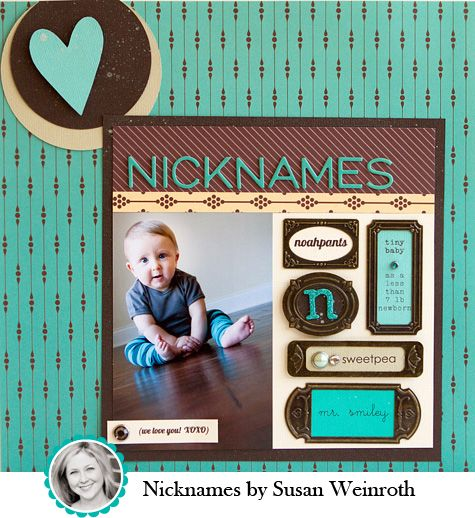 Susan Weinroth's adorable layout for the American Crafts blog