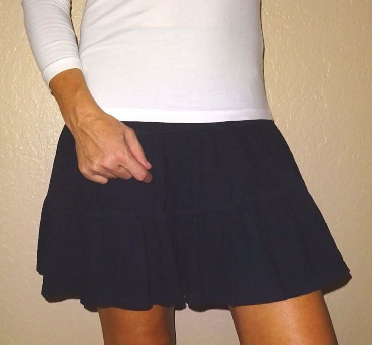 Old Navy black twirl cotton women's jersey knit skirt | XS | XSmall | OldNavy  #OldNavy #PeasantBoho