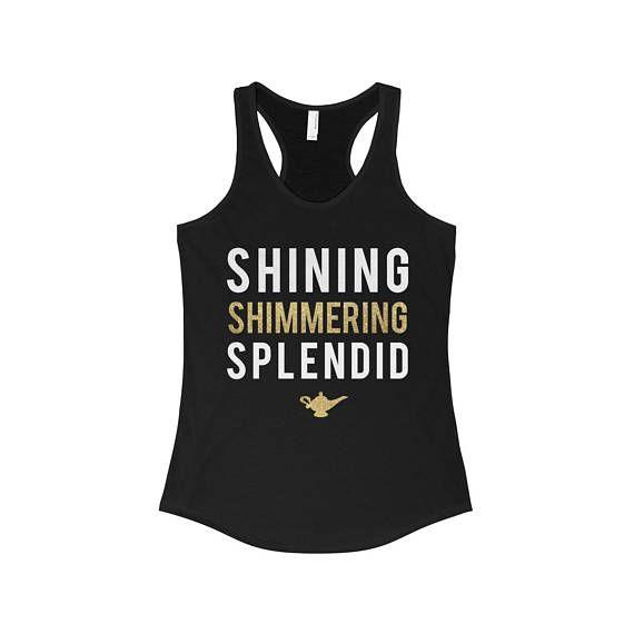 Shining Shimmering Aladdin Princess Jasmine Disney Park Shirt