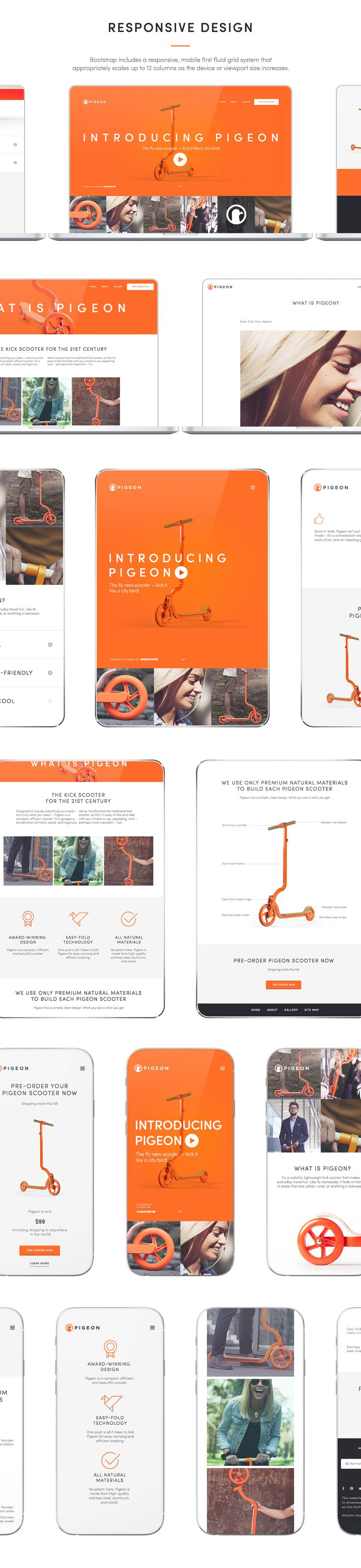 I was commissioned by Adobe to create a responsive website for Pigeon  (a scooter successfully funded on Kickstarter) to showcase updated Adobe Muse CC 2016.