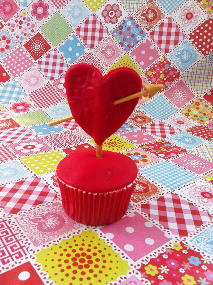 Corazón cupcake