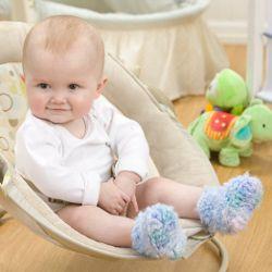Fuzzy Crochet Baby Booties