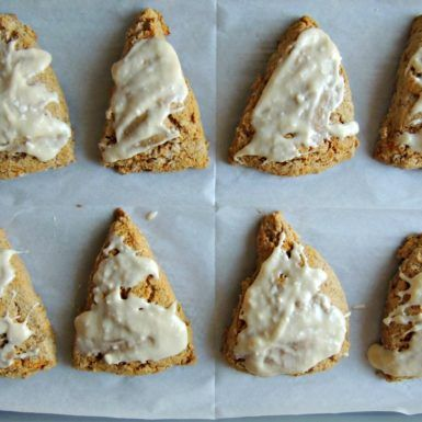 Try this gluten free scone for a fun twist on classic carrot cake!