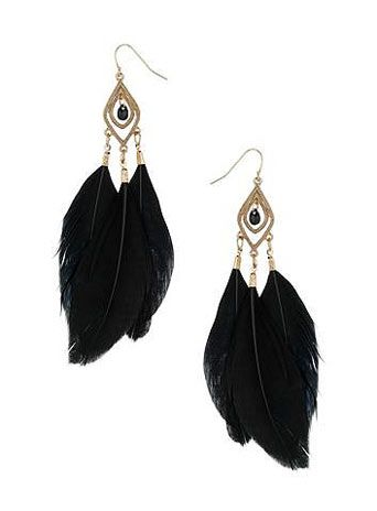Long swing feather earrings Royal Blue U9baTCqwh