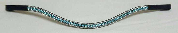 Novas Equestrian Turquoise crystal browband