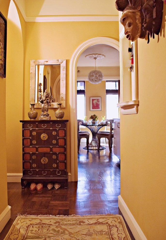 Mediterranean House Exterior Paint Colors Entry Eclectic With Runner