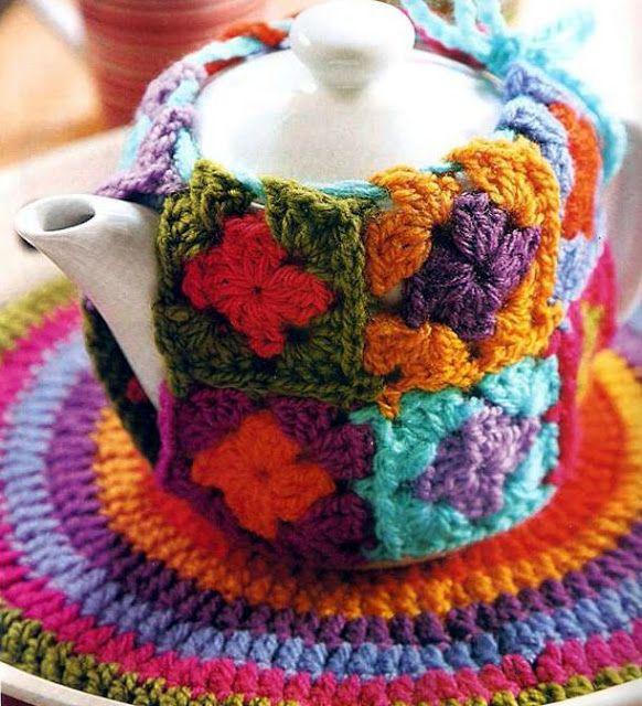 Patrón #1276: Set para Te a Crochet | CTejidas [Crochet y Dos Agujas]