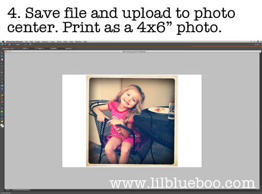 tutorial on how to print your instagram photos as 4x6 :: via lilblueboo.com