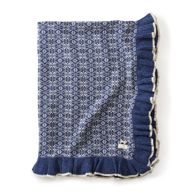 Inreda.com - Filt Lovely Knit Dark Blue 140x140, Odd Molly Home