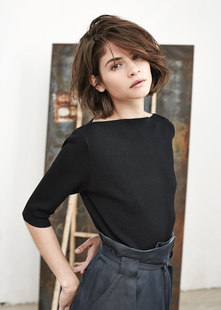 Mango PREMIUM - Boat neck sweater in black -- SALE $34.99