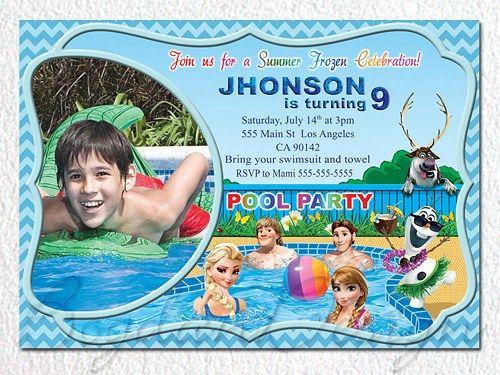 Frozen Invitation, Frozen Birthday Invitation, Frozen Birthday Party
