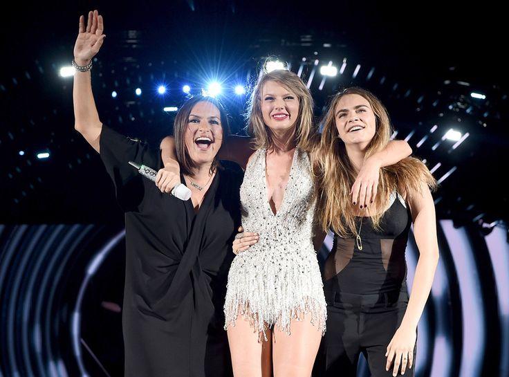 Mariska Hargitay & Cara Delevingne from Taylor Swift's Celeb Concert Cameos | E! Online
