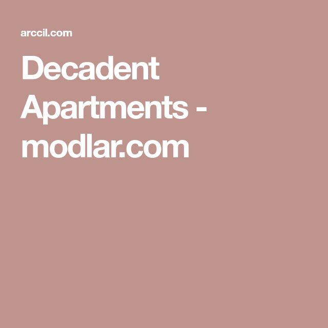 Decadent Apartments - Modlar.com