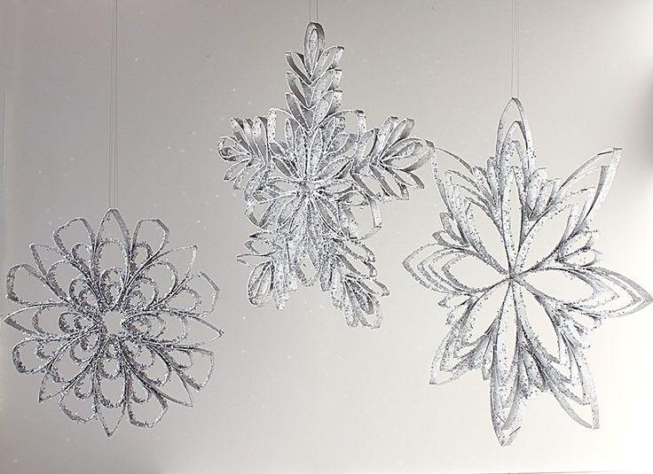 Rollo de papel higiénico copos de nieve