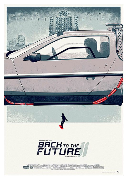Back to the Future Movie Poster, available at 45x32cm and 50x70. This poster is printed on matt coated 350 gram paper.  Also available on mat Blockmount on 50x70cm. Sells individually or the set of three.