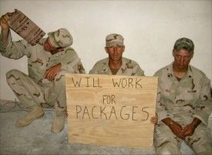 Soldiers love to get care packages from back home.