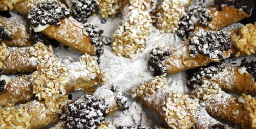 Rock Hudson's Cannoli Using an electric mixer, beat the ricotta in a large bowl for 1 minute. Add confectioner's sugar and beat until light and creamy, about 5 minutes. Add cinnamon, chopped citron, and chocolate chips and mix until well blended. Refrigerate until ready to use. To make cannoli shells, sift flour, sugar, and cinnamon together into a large bowl. Make a well and pour wine into it and mix until incorporated. On a floured cutting board, knead dough until smooth and stiff, about…