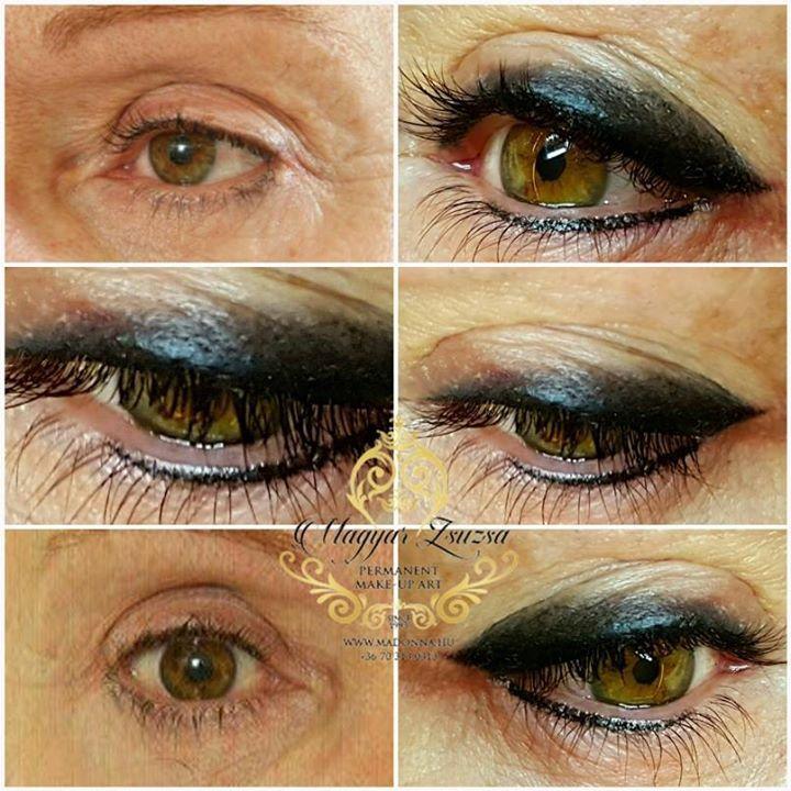Örökifjú szemek az új szemhéj sminktetoválás technikával. Dot work technika alkalmazásával készül 1 vagy több színnel. (Photoshop? NOOO! Photos by phone)