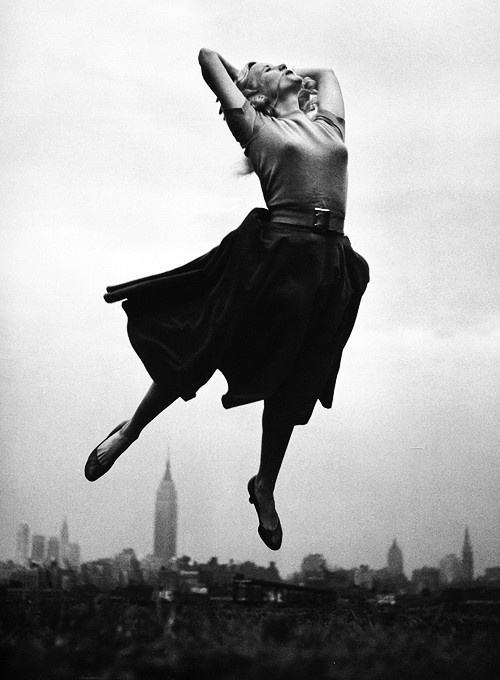 Eva Marie Saint in New York City, photographed by Philippe Halsman, 1959