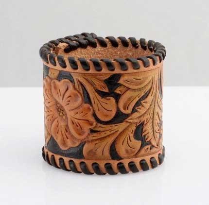 hand tooled leather cuff bracelet #cuff #bracelet #tooled