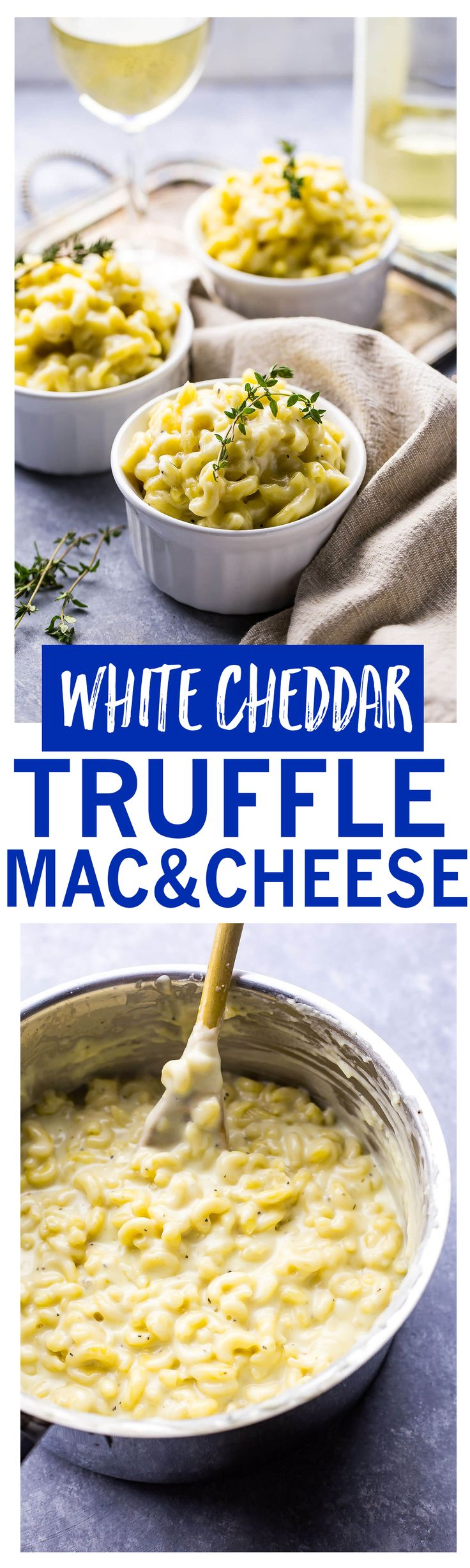 White Cheddar Truffle Mac and Cheese is a delicious and luxurious side dish!