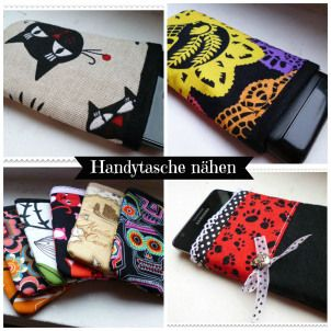 Handytasche anleitung handybag bag do it yourself tutorial pattern free case smartphone