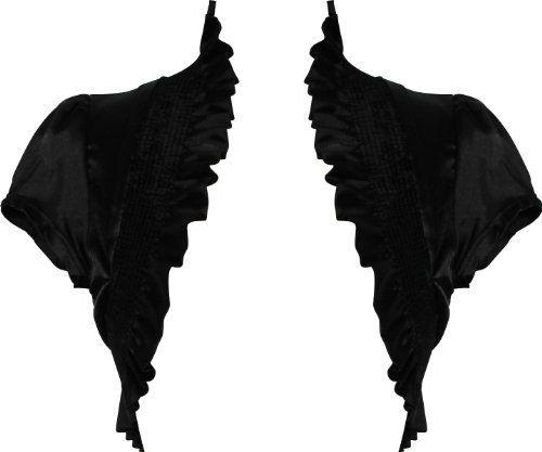 Stretch Satin Bolero Jacket Short Sleeve Cover-up Junior Plus Size, Size: 2X, Color: Black PacificPlex,http://www.amazon.com/dp/B007GR6AEA/ref=cm_sw_r_pi_dp_HyTDrb940A8C4C81