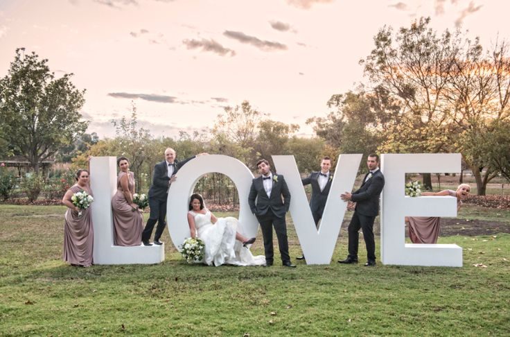 L.O.V.E  sign in the gardens ~ Touch of Flash wedding photography ~
