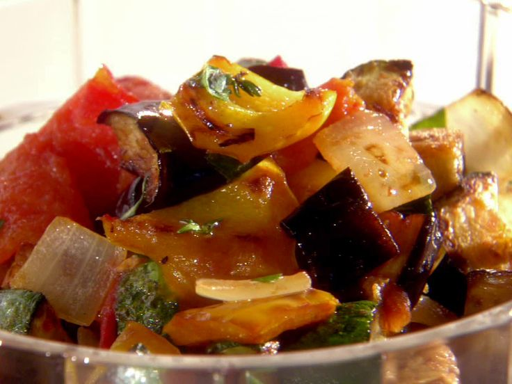 Ratatouille from FoodNetwork.com. It's so delicious! I made it with some quinoa. You have to try it!