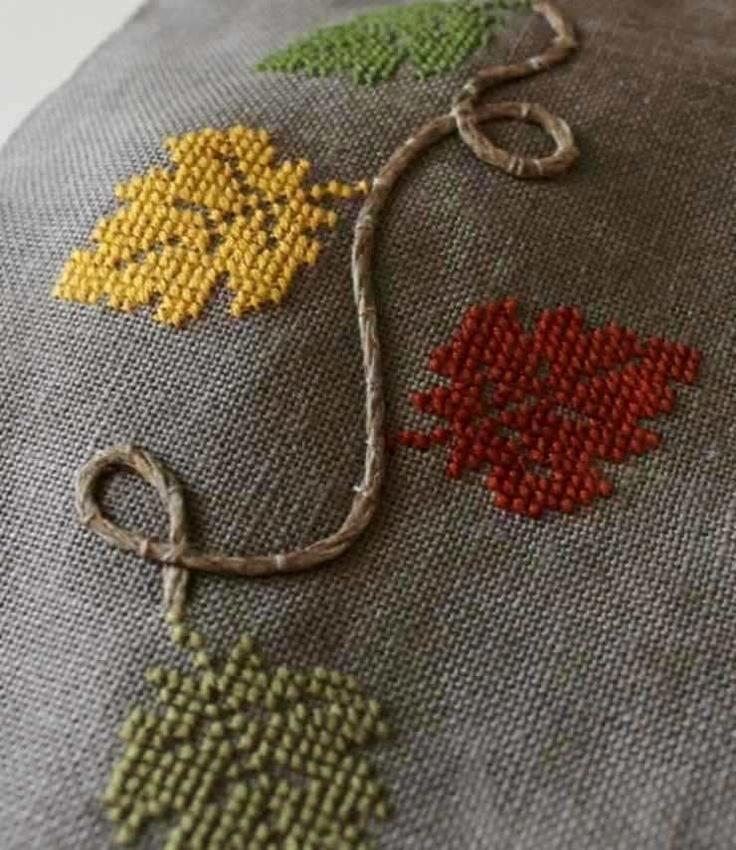 Foglie: cross stitch freebie by Luli