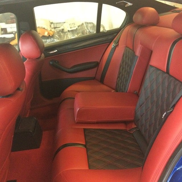 bmw e46 diamond stitch red and black interior concept top spec synthetic leather full interior. Black Bedroom Furniture Sets. Home Design Ideas