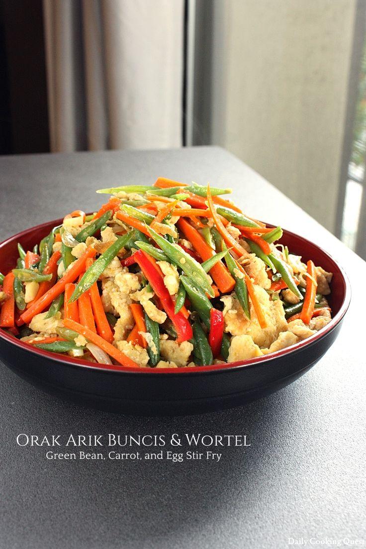 Orak Arik Buncis & Wortel - Green Bean, Carrot, and Egg Stir Fry