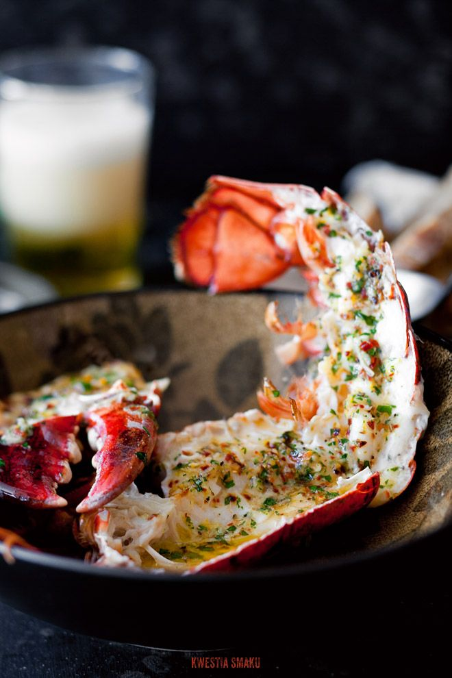 Roasted Lobster with garlic butter with lemon pepper