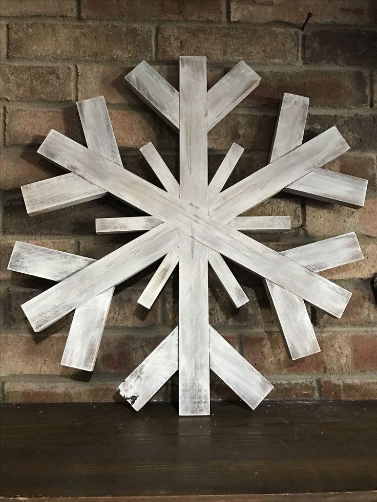 Extra Large wood snowflake - scrap wood creation