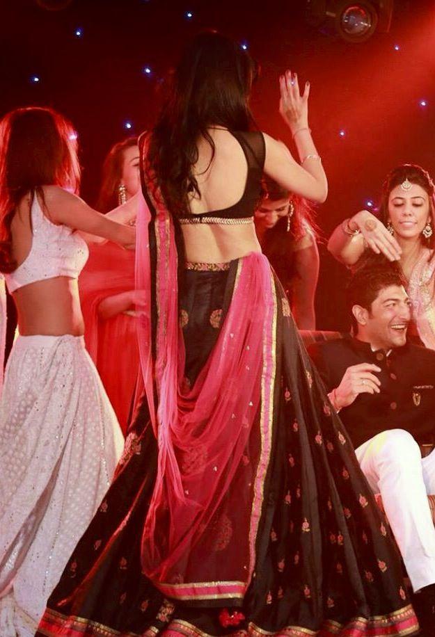 "pink and black lengha -Madhuri in item song - ""via agra"""