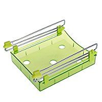 Yiuswoy Multifunktion Kunststoff Sparen Sie Platz Kuechen Schublade Organzier Kuehlschrank Regal Gefrierschrank Zubehoer Tablett Abstandsschicht - Gruen