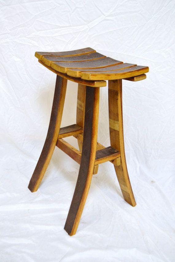 $159: Wine barrel stave Tasting bar stool by WineyGuys on Etsy