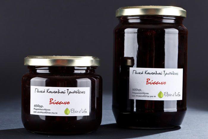 Σας προσφέρουμε το εξαιρετικής ποιότητας γλυκό του κουταλιού βύσσινο που παρασκευάζεται στη Τρίπολη από την Παπαντωνόπουλου για το Elixir of Life.