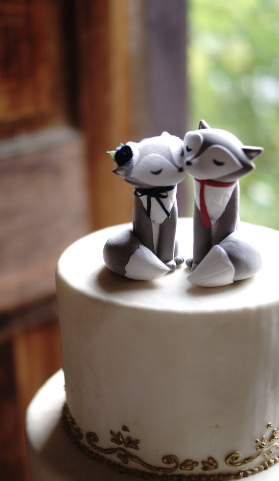These Wolf cake toppers specifically emphasize a sweet expression to the eyes. The bride wolf has closed eyes to convey delight and dreaminess. She even has eyelashes for elegance and class. The groom wolf has eyes that look at his bride adoringly. Let this be your solution to an unforgettable wedding day for you and your guests. FEEL SAFE with fast, easy and friendly service. Receive FREE 6 month warranty after receiving your cake topper on accidental damages that may occur on your cake…