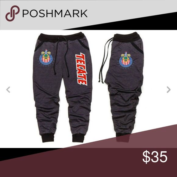 CHIVAS DEL GUADALAJARA JOGGERS SWEATPANTS SUDADERA CHIVAS DEL GUADALAJARA JOGGERS SWEATPANTS SUDADERA,ALL SIZES,COLOR BLACK 100%COTTON Pants Track Pants & Joggers