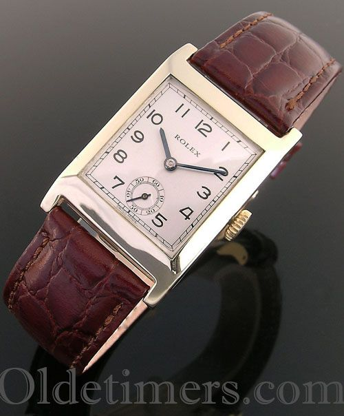 1930s 9ct gold square vintage Rolex watch (3601) | Watches ...